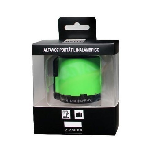 ALTAVOZ VIVANCO 76841 VERDE BLUETOOTH