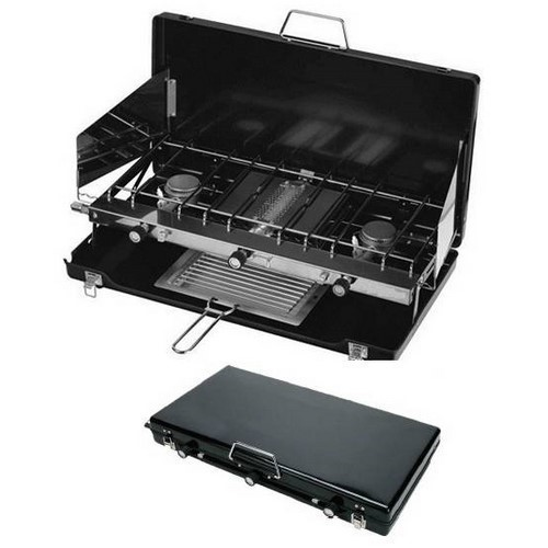 COCINA GAS PORTATIL KYMPO BBQ136S MALETIN/PLEGABLE