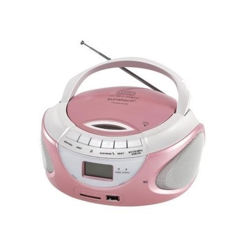 RADIO CD SUNSTECH CRUSM 395 ROSA