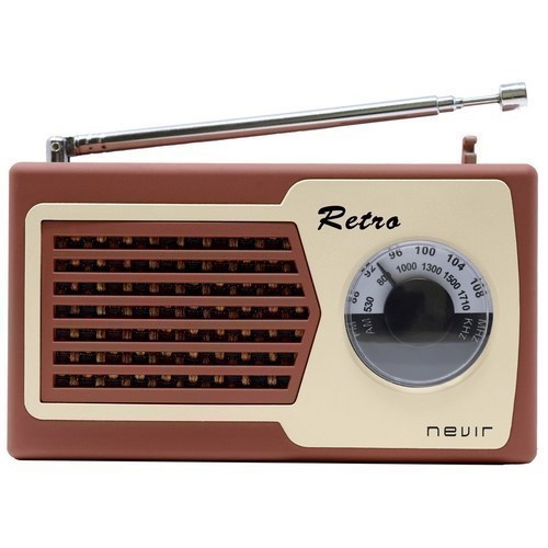 RADIO NEVIR RETRO NVR-200 MARRON
