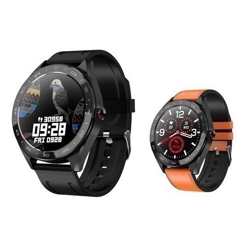 RELOJ SMARTWATCH DCU FULLTOUCH 2 BANDS SILICO/PIEL