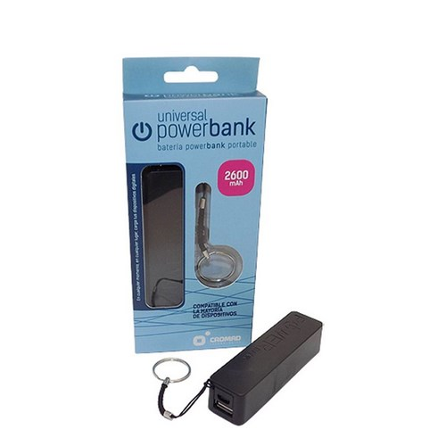 BATERIA POWER BANK CROMAD 2600MAH NEGRO
