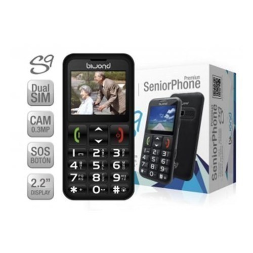 TELEFONO BIWOND MOVIL S9 DUAL SIM SENIORPHONE NEGR