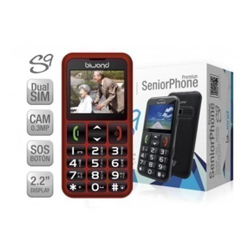 TELEFONO BIWOND MOVIL S9 DUAL SIM SENIORPHONE ROJO