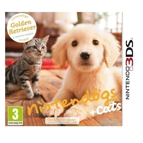 JUEGO NINTENDO 3DS NINTENDOGS GOLDEN RETRIEVER+CAT